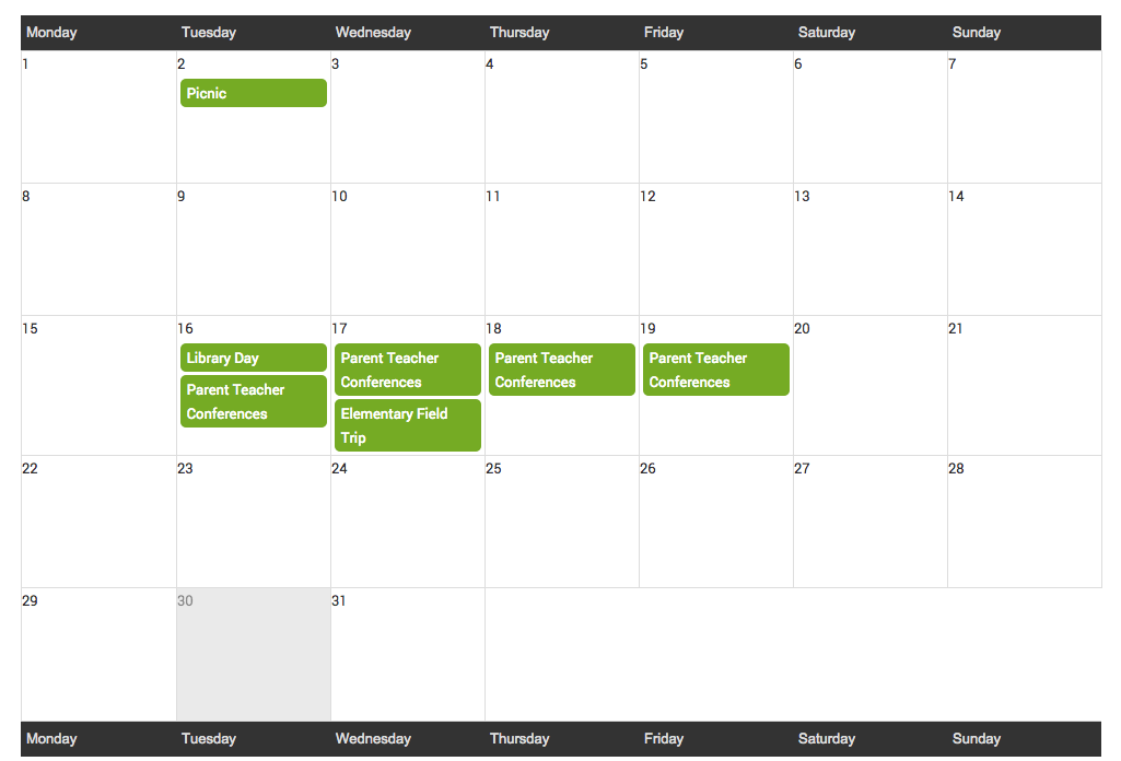 hubbli group calendars are a powerful school communication tool