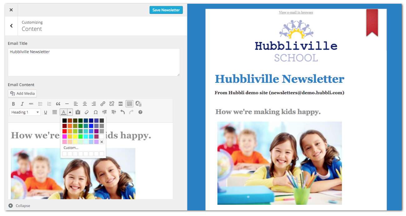 Hubbli school management software system digital forms