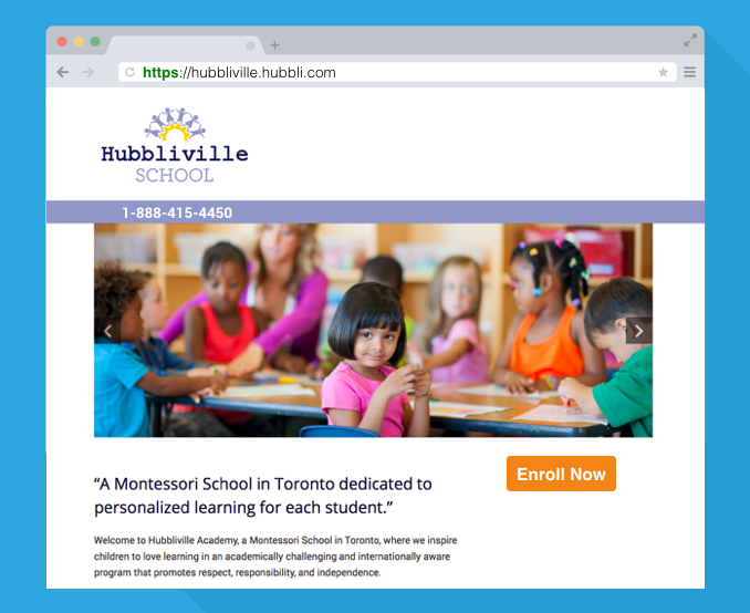 hubbli school management software system group conversations and parent engagement